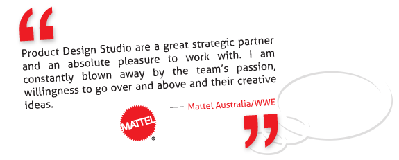 Mattel Australia prefers working with Product Design Studio