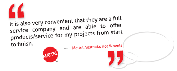 Full service team for Mattel Australia